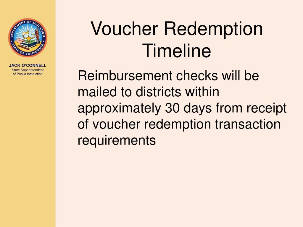 Voucher Redemption Timeline