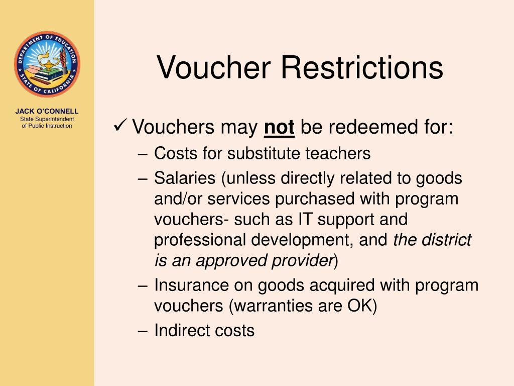Voucher Restrictions