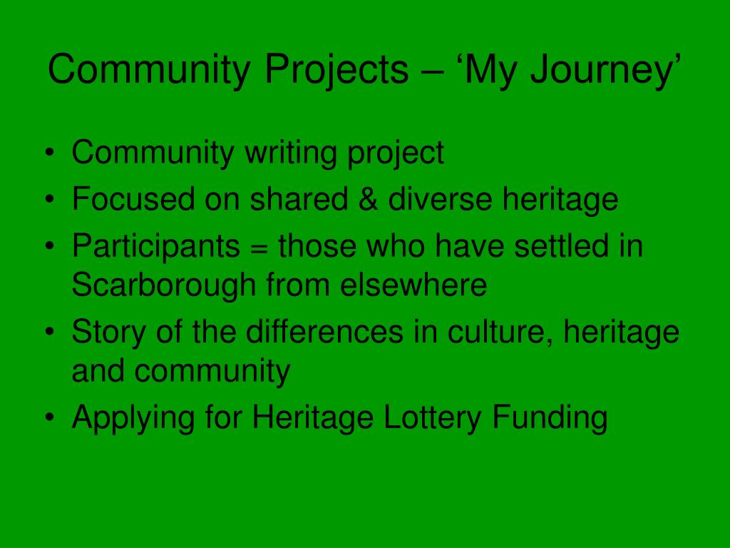 Community Projects – 'My Journey'