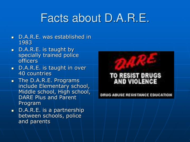 Facts about d a r e