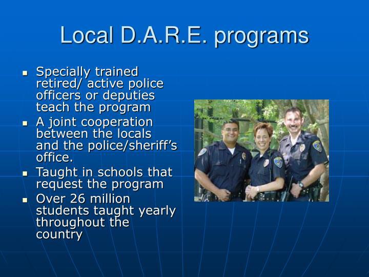 Local D.A.R.E. programs