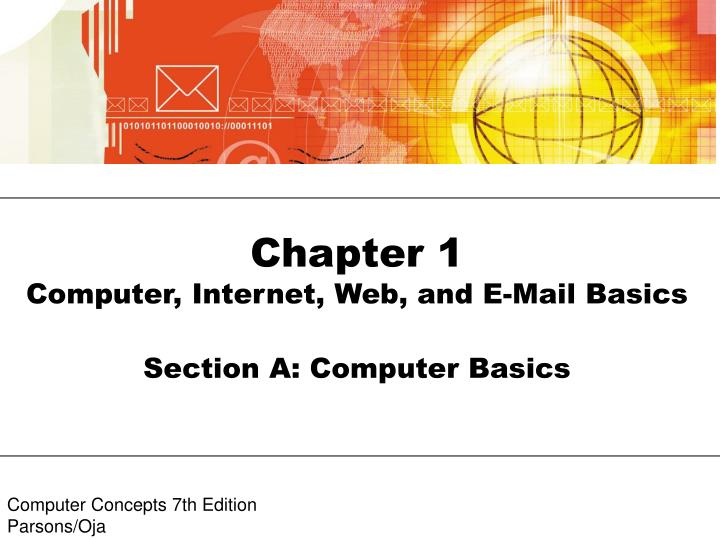 Chapter 1 computer internet web and e mail basics