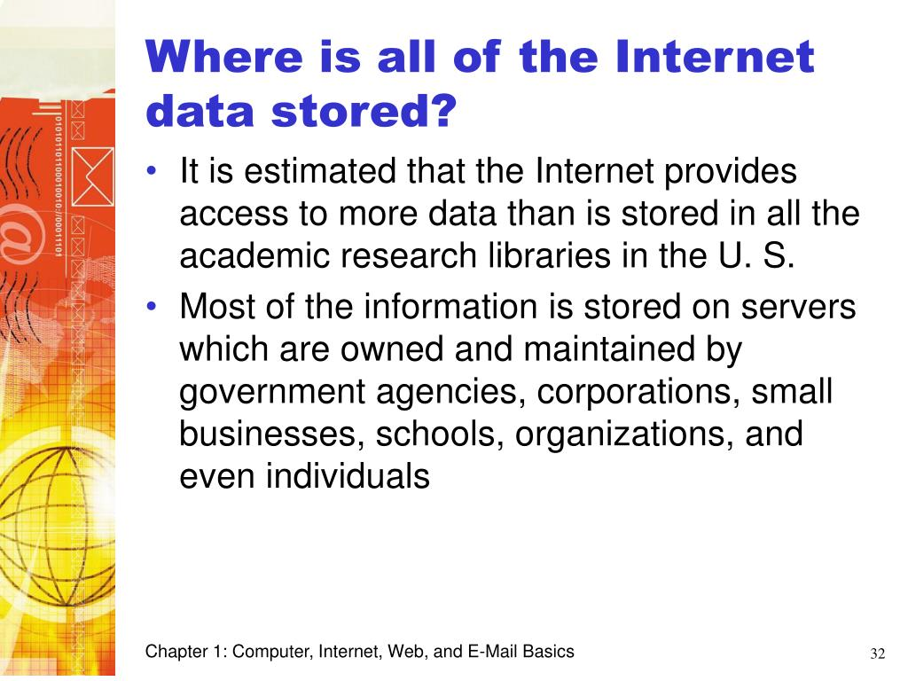 Where is all of the Internet data stored?