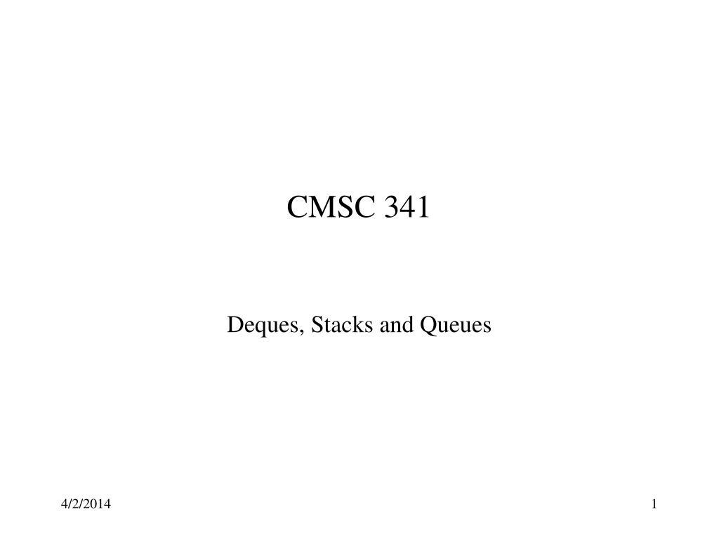 CMSC 341