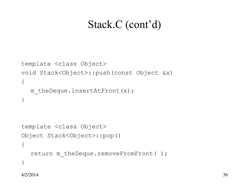 Stack.C (cont'd)