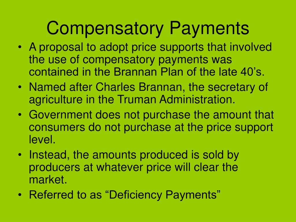 Compensatory Payments