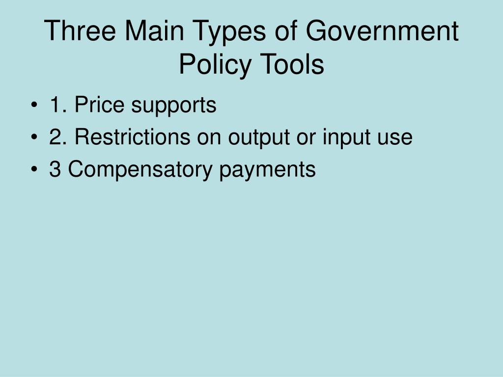 Three Main Types of Government