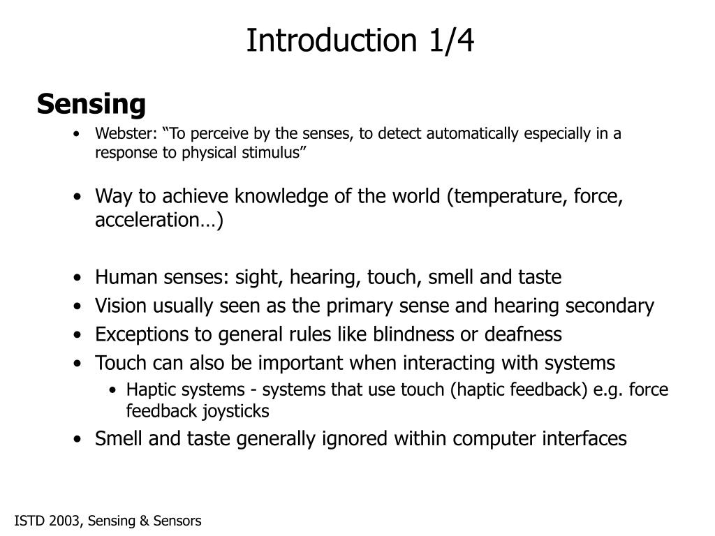 Introduction 1/4