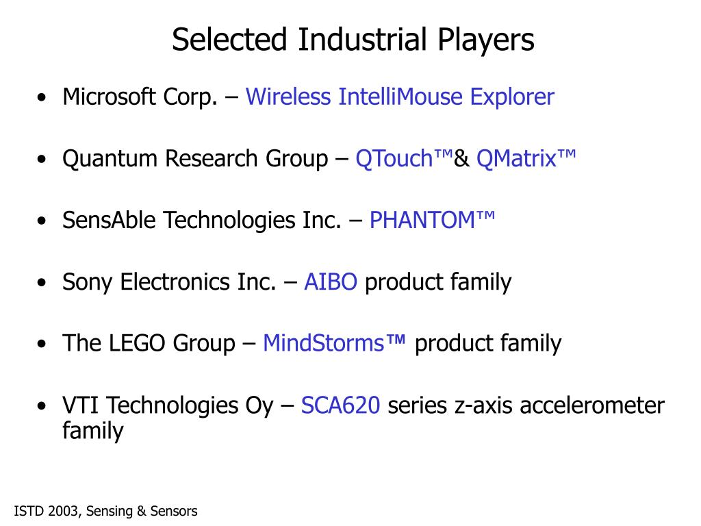 Selected Industrial Players
