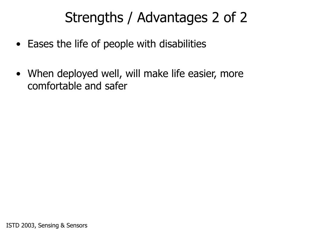 Strengths / Advantages 2 of 2