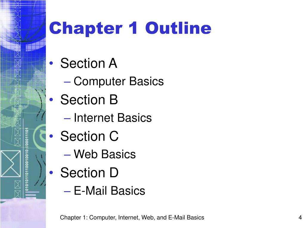 Chapter 1 Outline