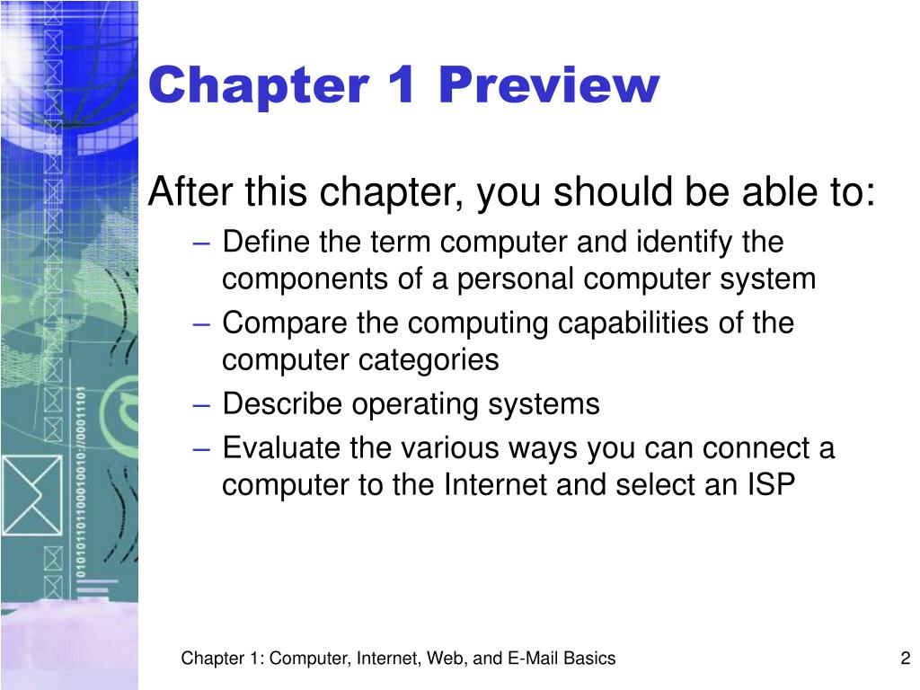 Chapter 1 Preview
