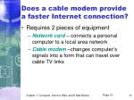 does a cable modem provide a faster internet connection
