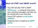 how do pop and imap work
