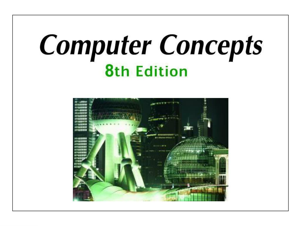 Chapter 1: Computer, Internet, Web, and E-Mail Basics