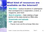 what kind of resources are available on the internet