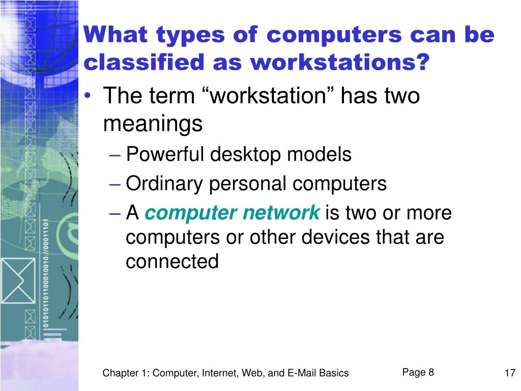 What types of computers can be classified as workstations?