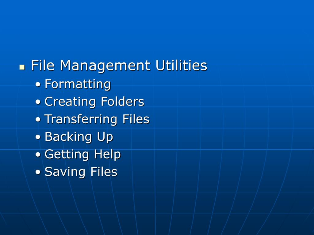 File Management Utilities