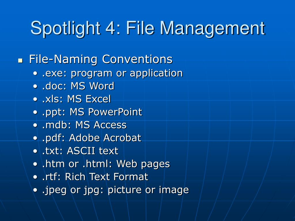Spotlight 4: File Management
