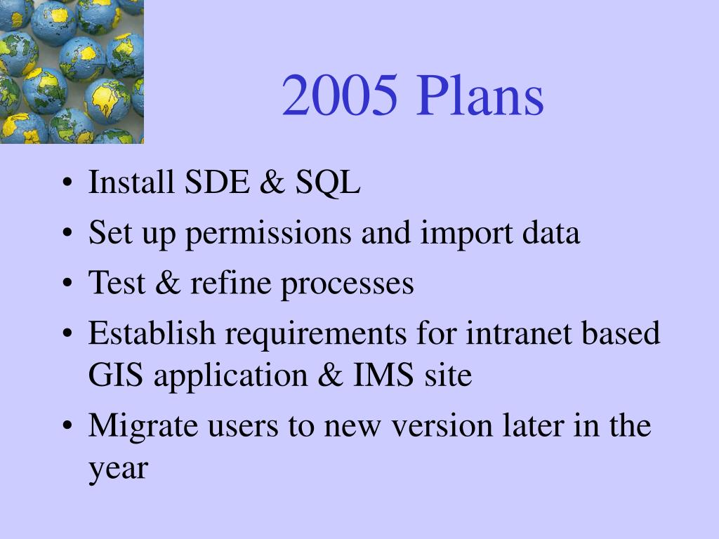 2005 Plans