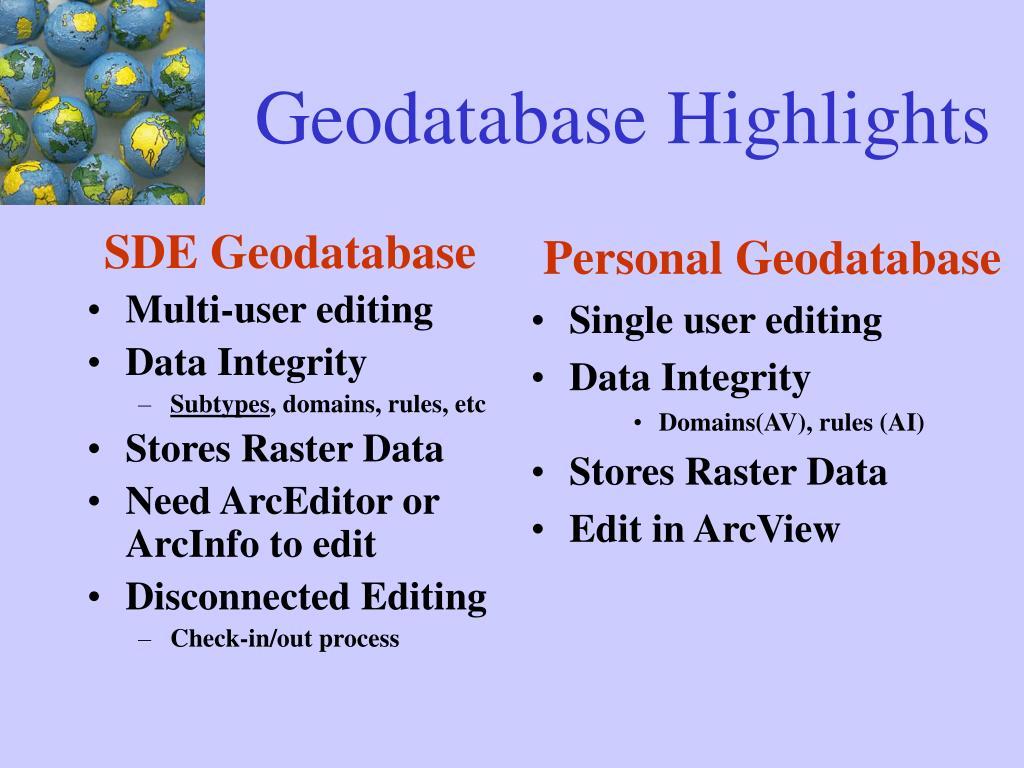 SDE Geodatabase