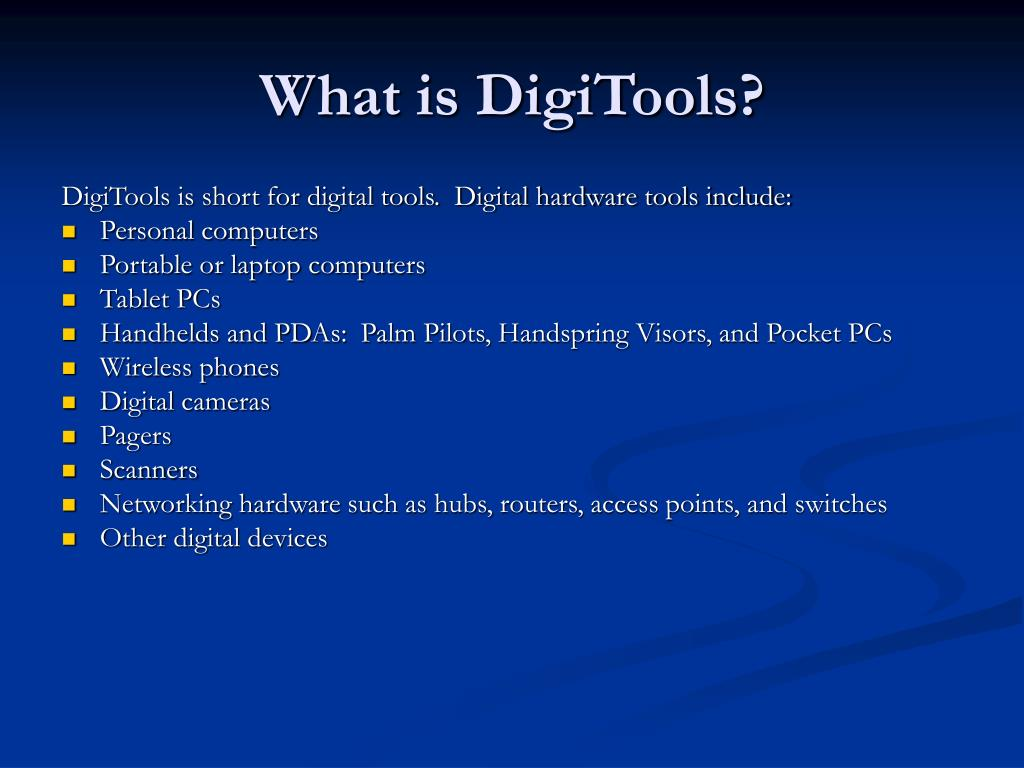 What is DigiTools?