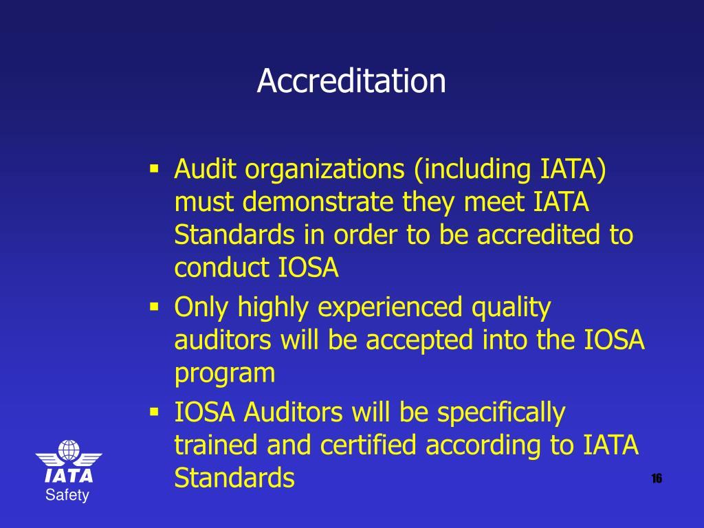 accreditation audit Due to the near-universal desire for safe and good quality healthcare, there is a growing interest in international healthcare accreditation providing healthcare, especially of an adequate standard, is a complex and challenging process.