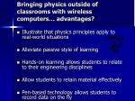 bringing physics outside of classrooms with wireless computers advantages