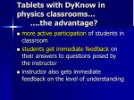 tablets with dyknow in physics classrooms the advantage