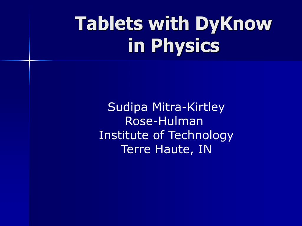 tablets with dyknow in physics
