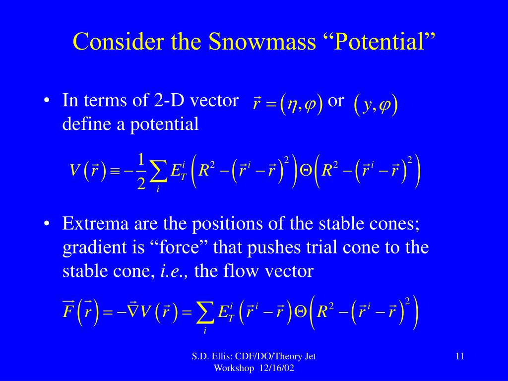 """Consider the Snowmass """"Potential"""""""
