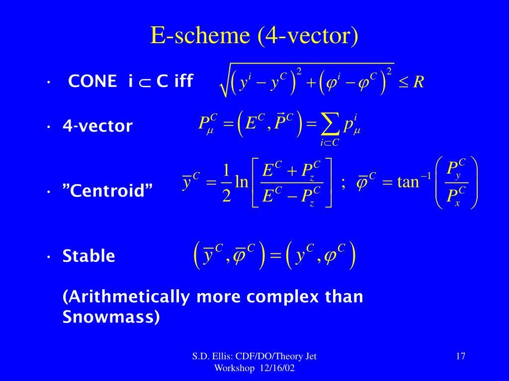 E-scheme (4-vector)
