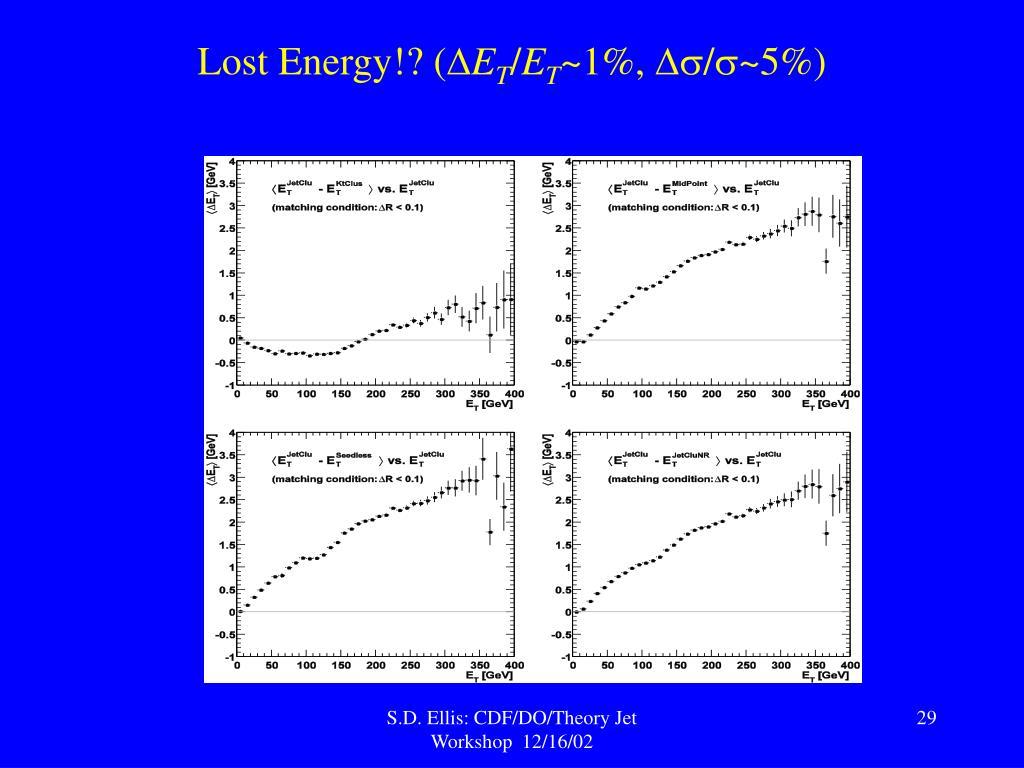 Lost Energy!? (