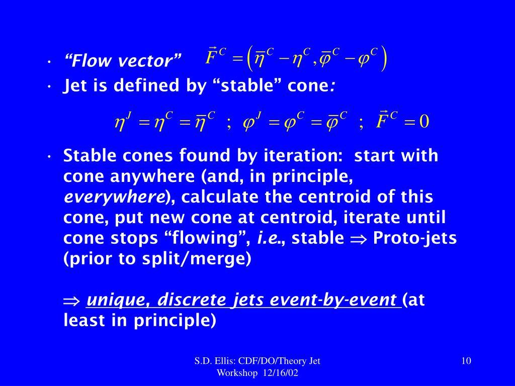 """""""Flow vector"""""""