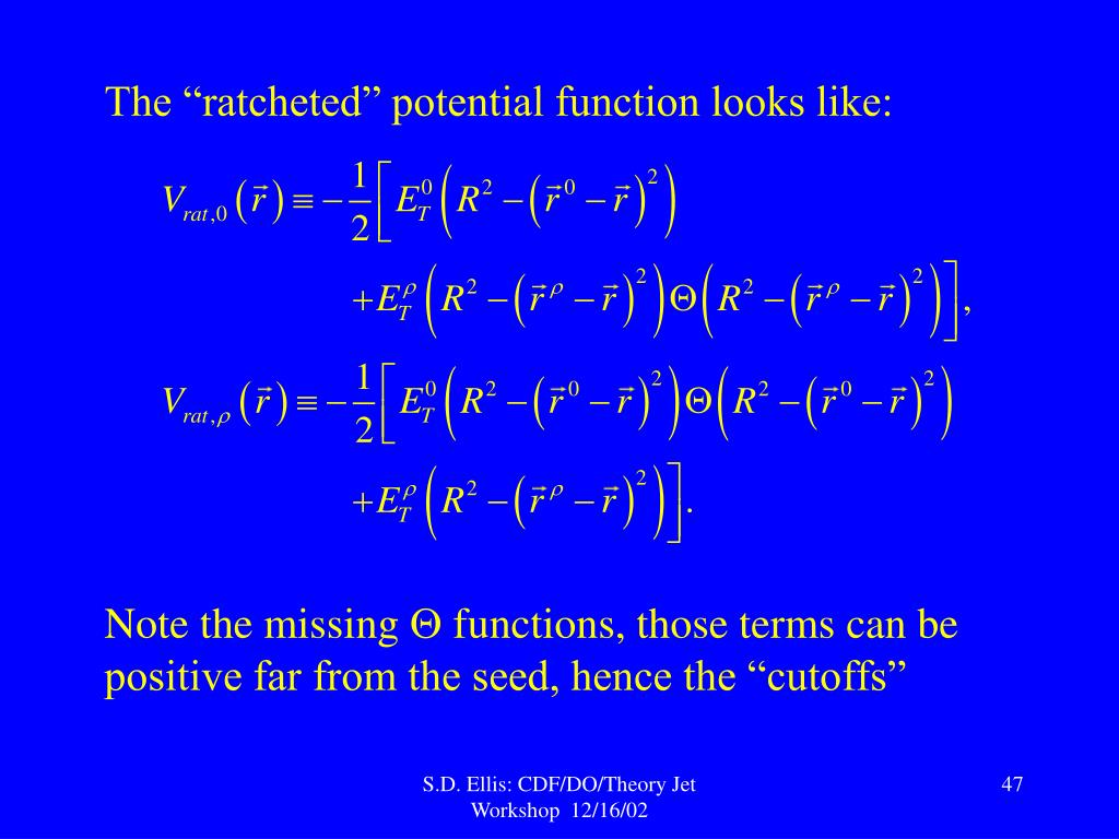 """The """"ratcheted"""" potential function looks like:"""