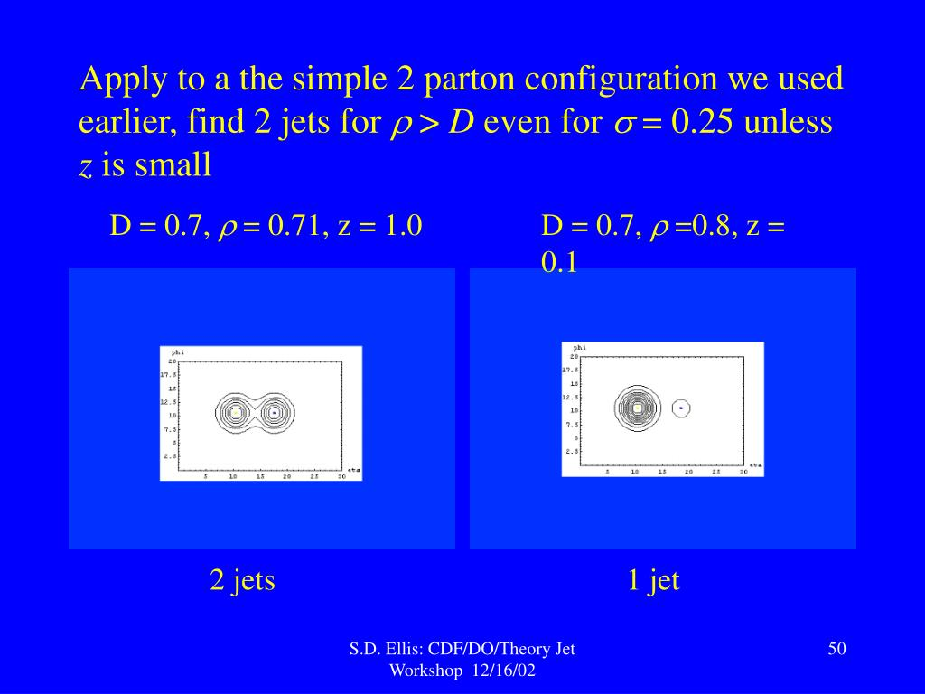 Apply to a the simple 2 parton configuration we used earlier,