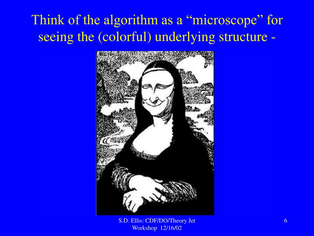 """Think of the algorithm as a """"microscope"""" for seeing the (colorful) underlying structure -"""