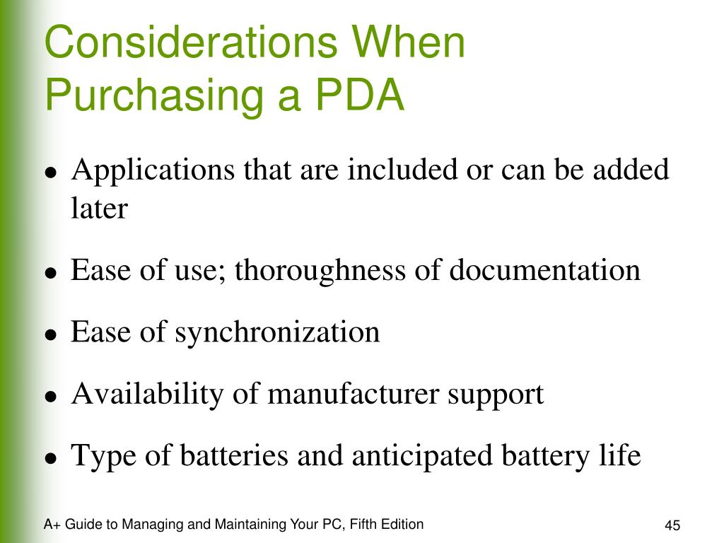 Considerations When Purchasing a PDA