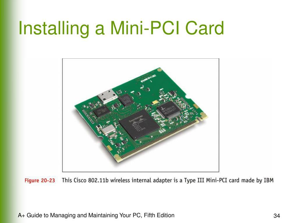 Installing a Mini-PCI Card