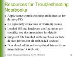 resources for troubleshooting notebooks