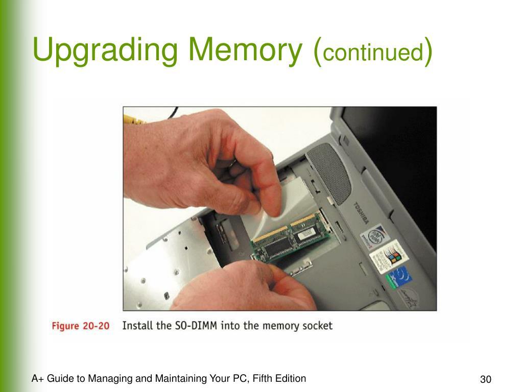 Upgrading Memory (