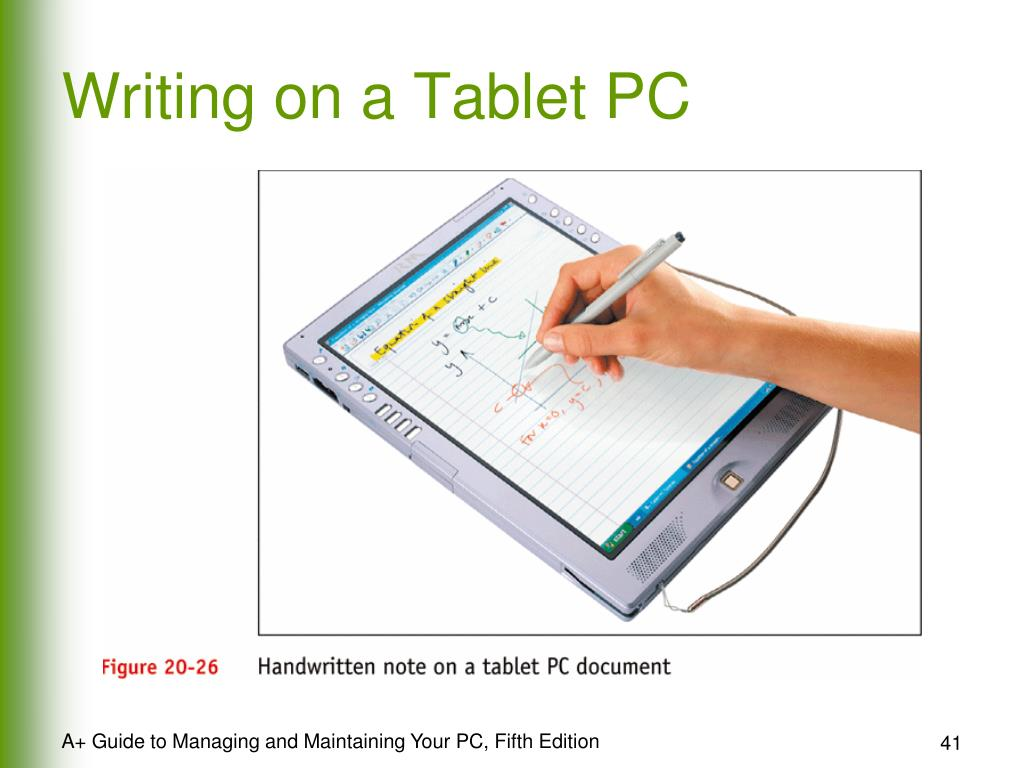 Writing on a Tablet PC