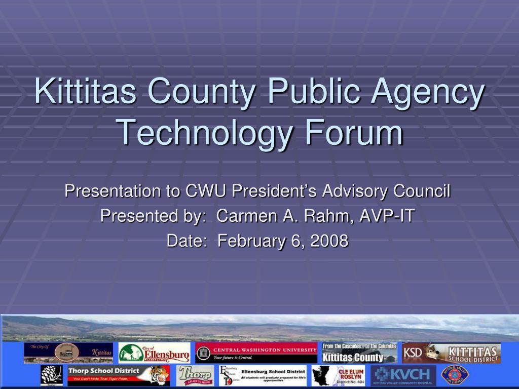 Kittitas County Public Agency Technology Forum