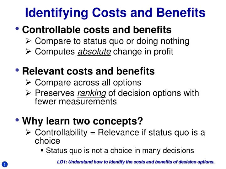 Identifying costs and benefits l.jpg