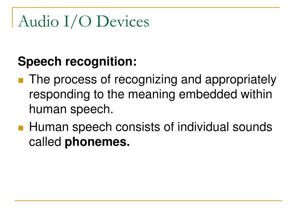 Audio I/O Devices