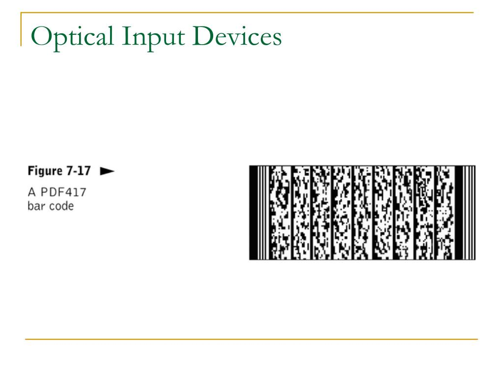 Optical Input Devices