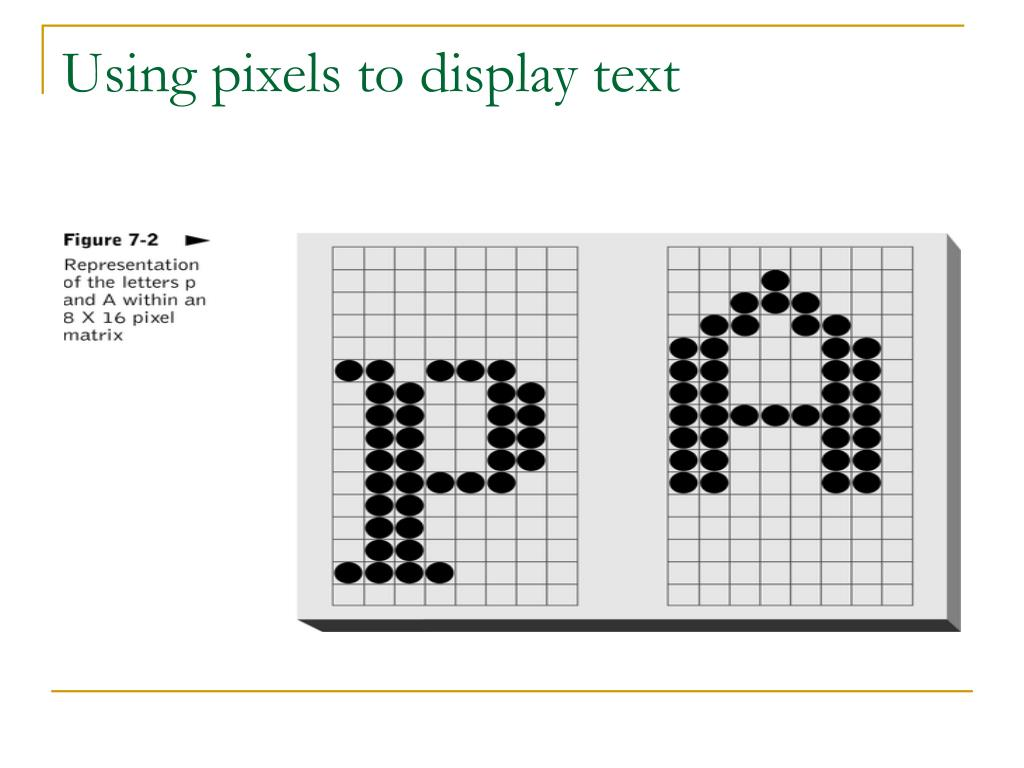 Using pixels to display text