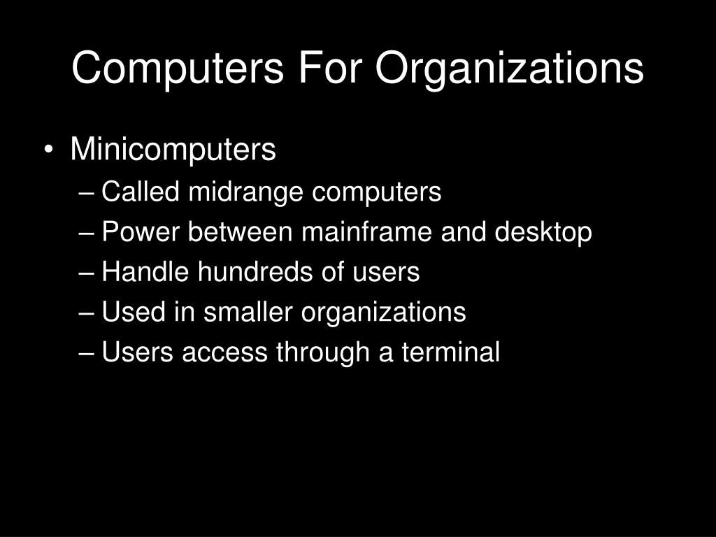 Computers For Organizations