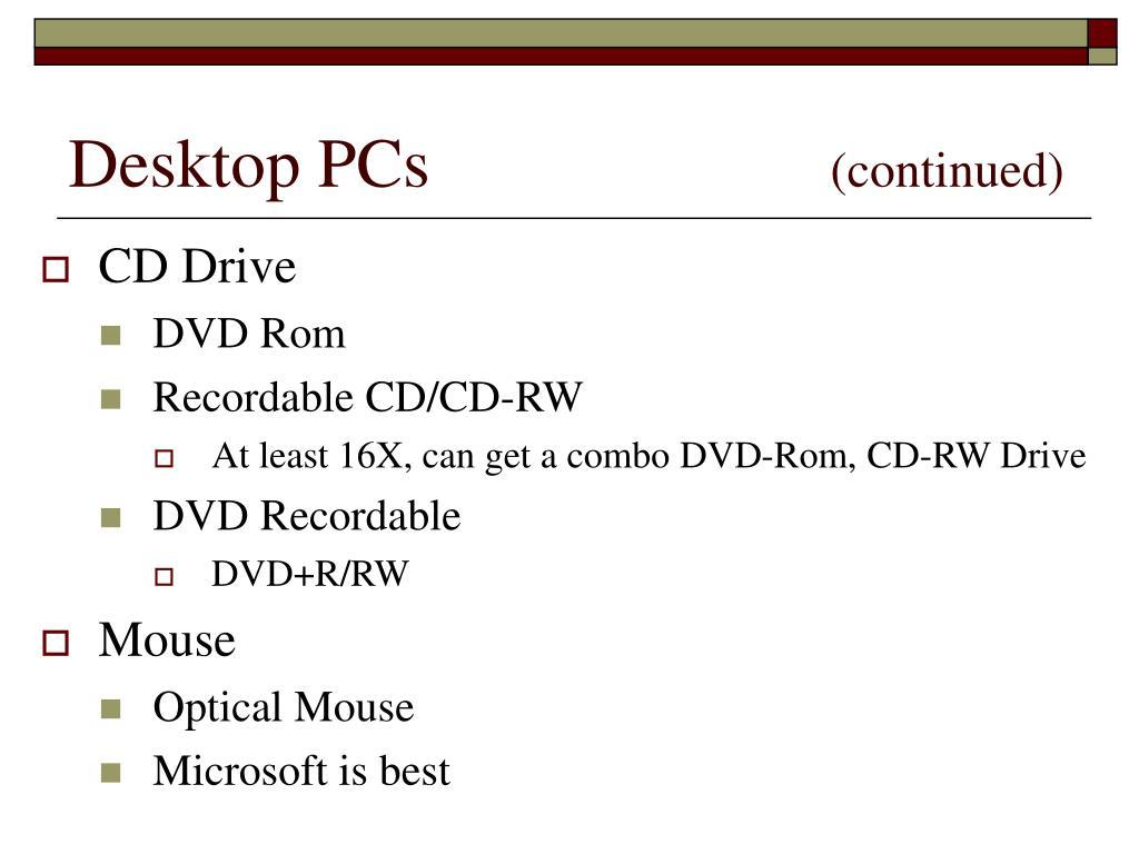 Desktop PCs