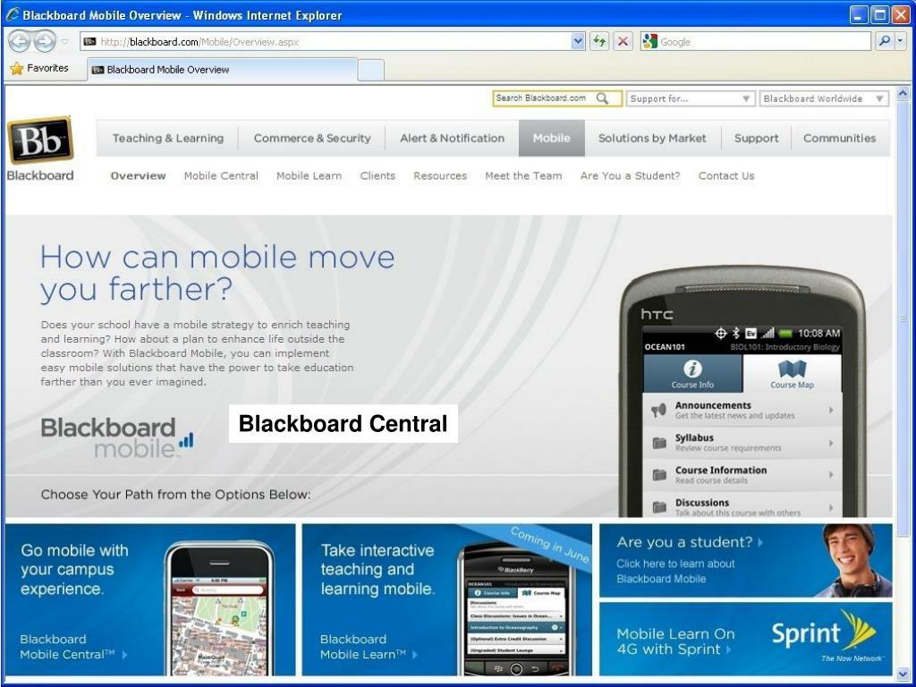 Blackboard Central